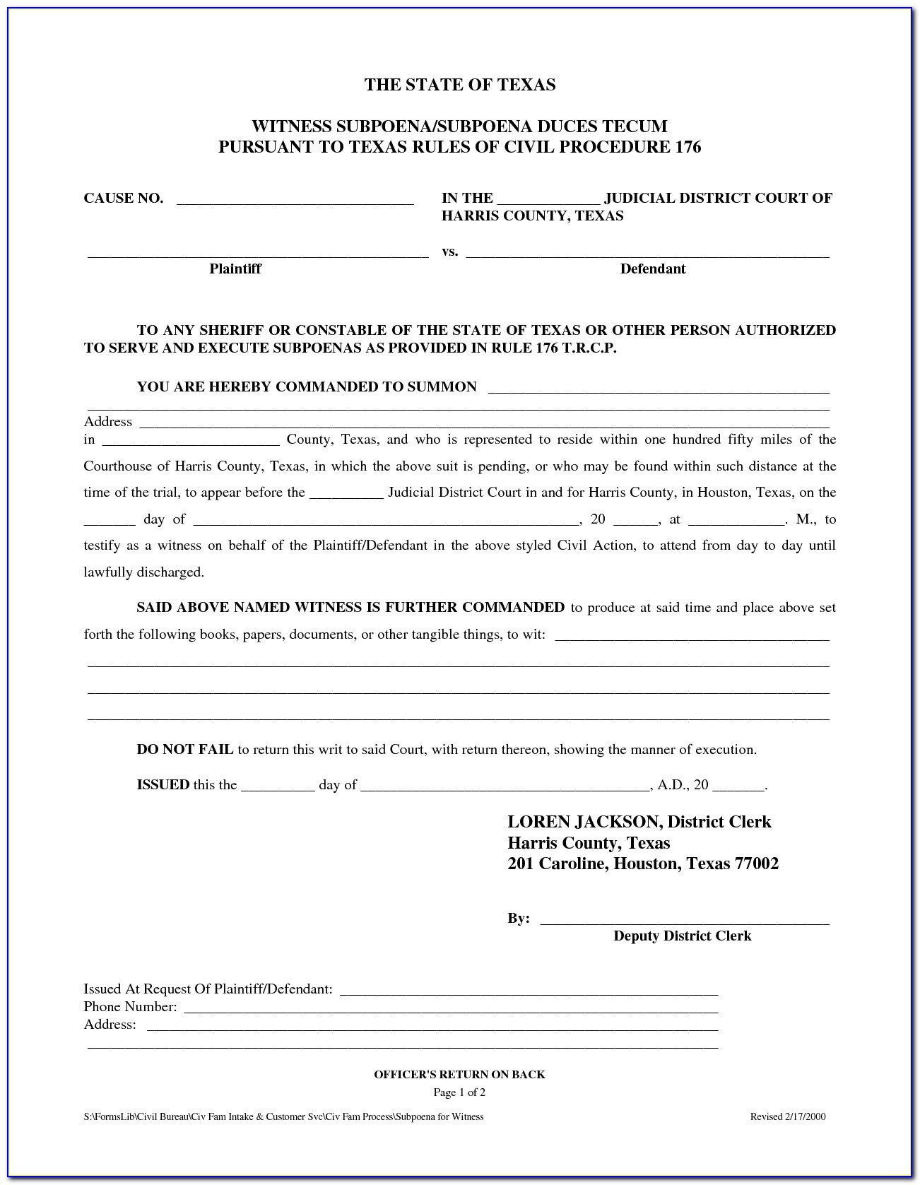 Free Texas Divorce Forms Online