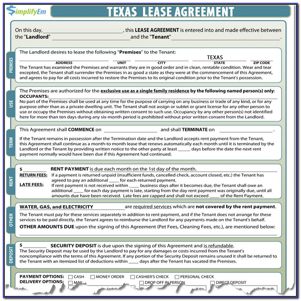Free Texas Landlord Forms
