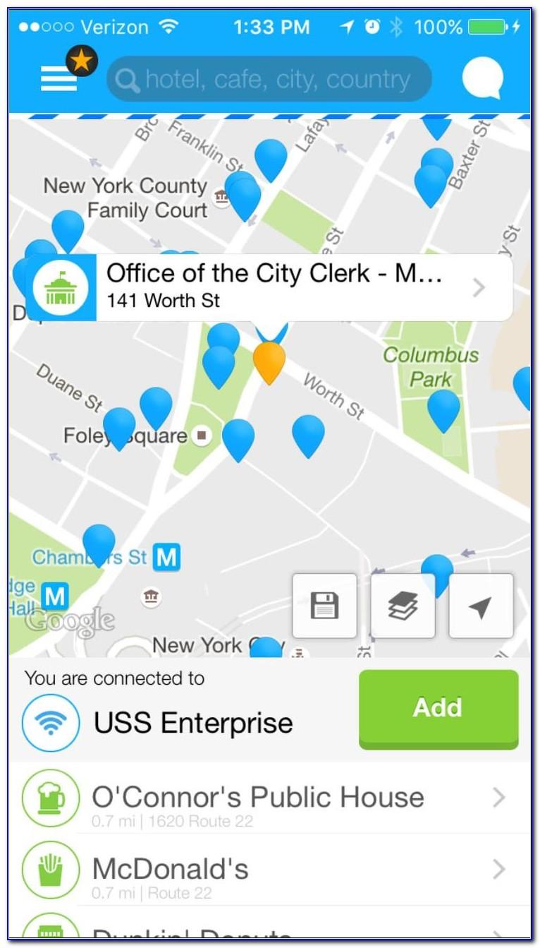 Free Wifi Locator Map