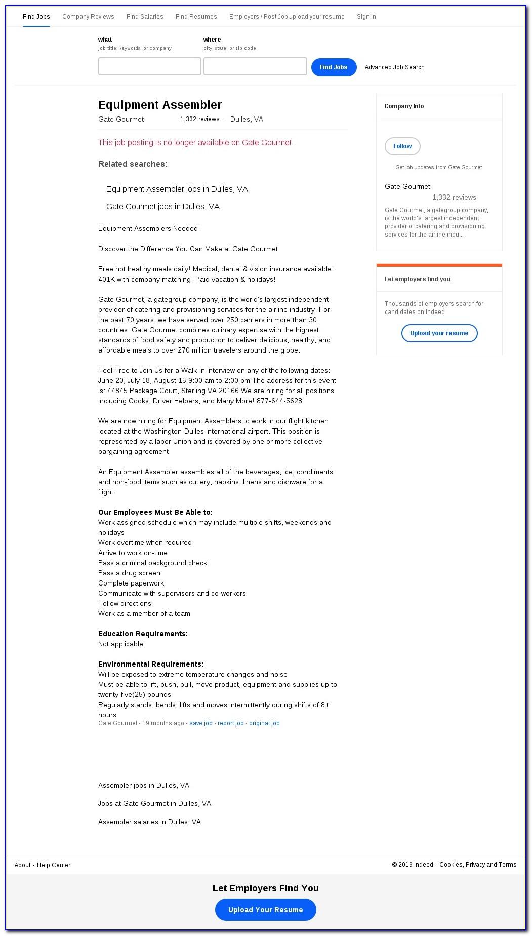 Gate Gourmet Job Application Online
