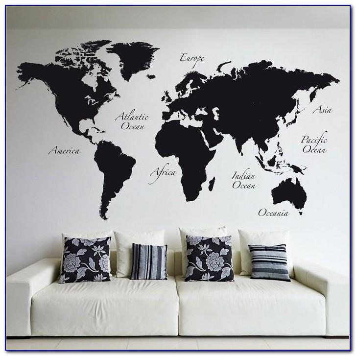 Giant World Map Murals