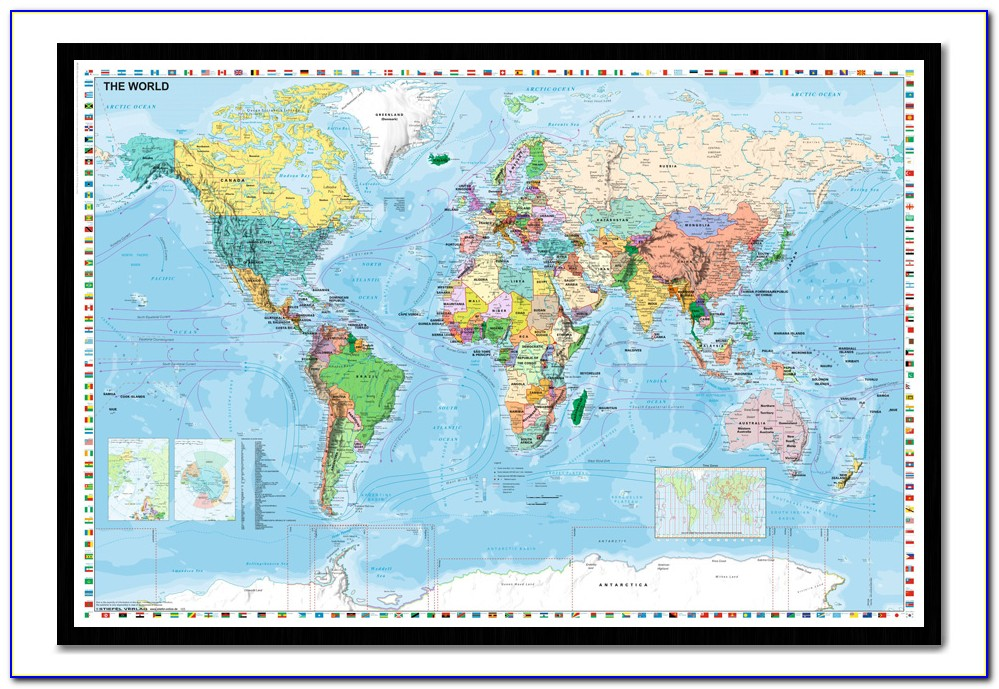 Giant World Map Pinboard