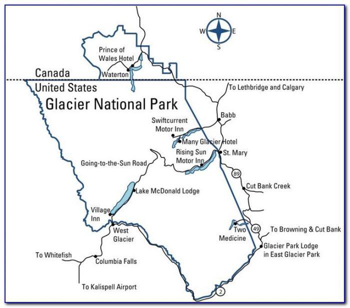 Glacier National Park Lodging Map