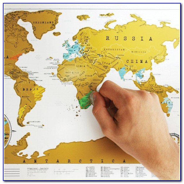 Globetrotter Maps® Scratchable World Map Silver