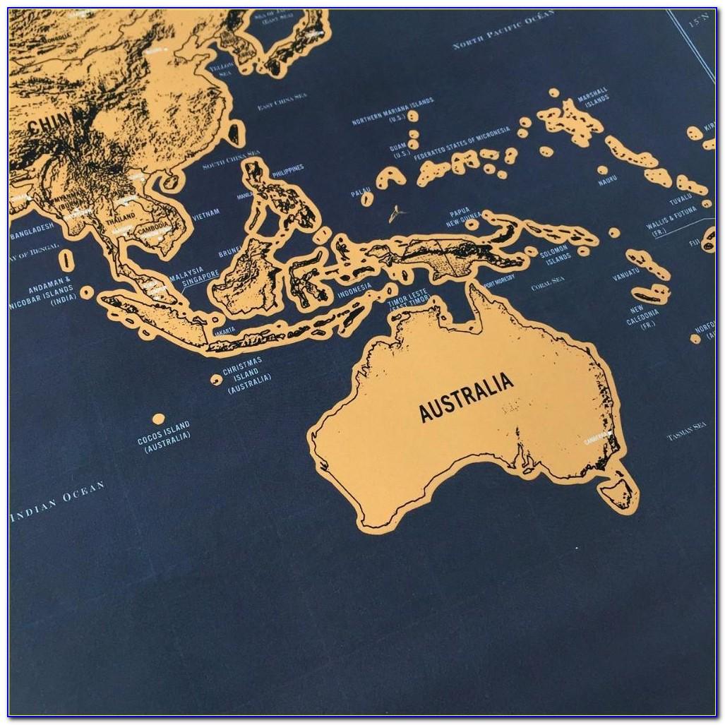Globetrotter Maps® Scratchable World Map