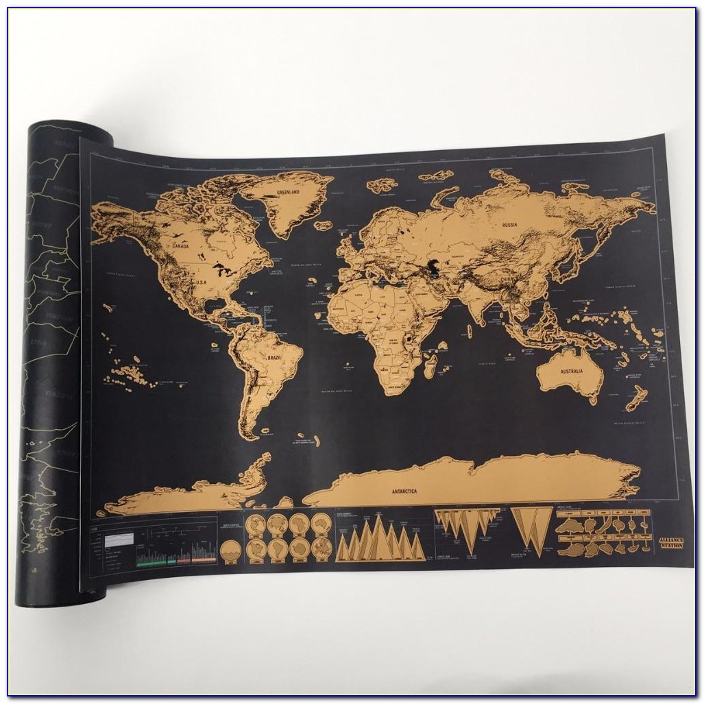Globetrotter Scratch Off World Map Limited Edition