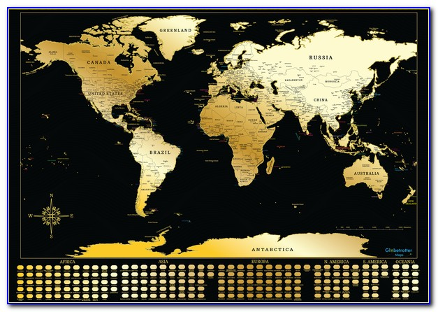 Globetrotter World Map Scratch