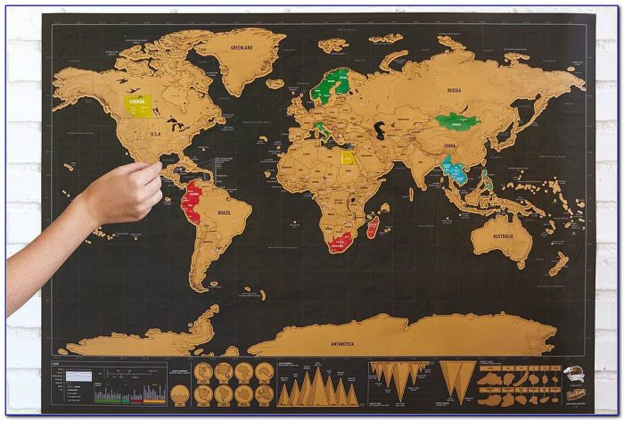 Gold Scratch Off Map