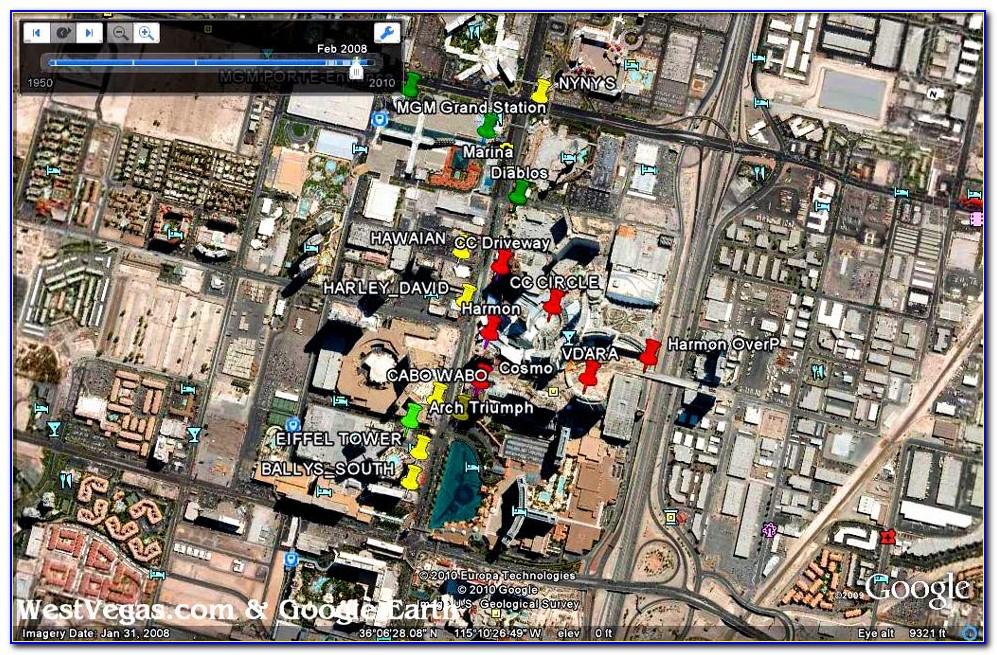 Google Earth Las Vegas Strip Map