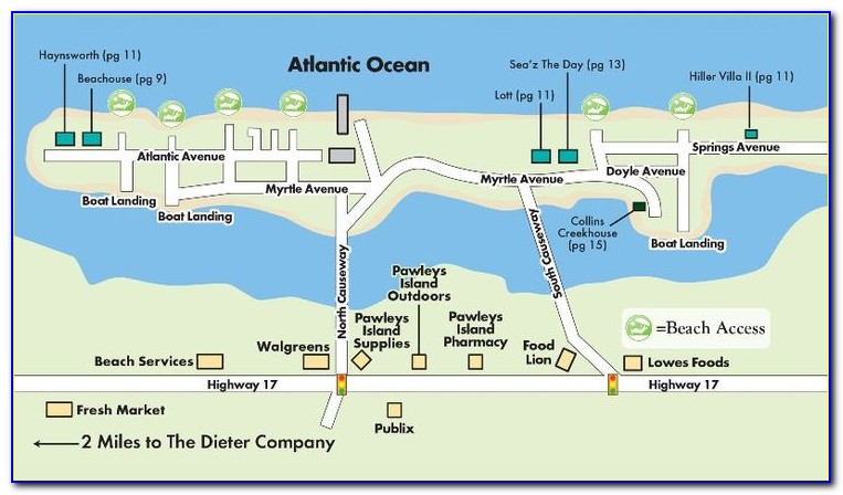 Google Map Pawleys Island Sc