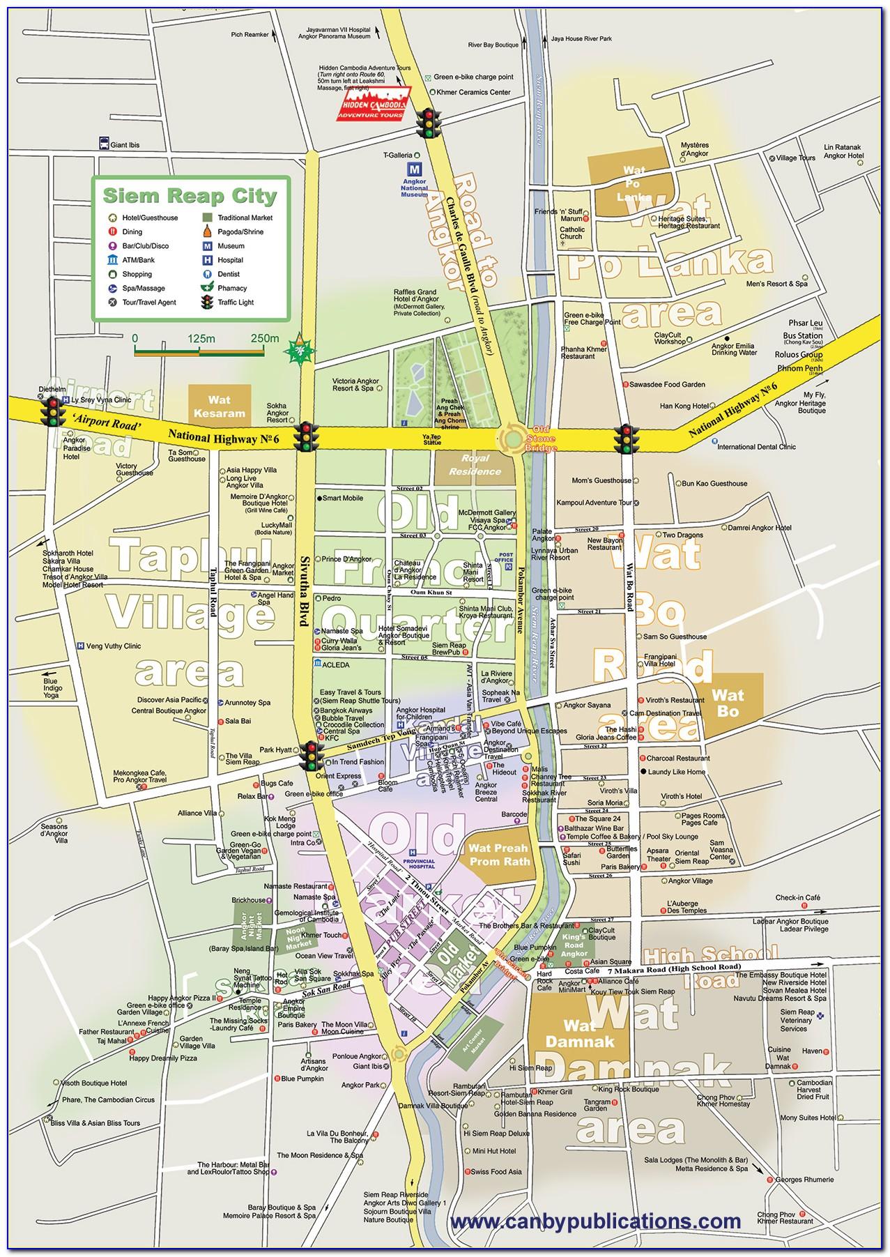 Google Map Siem Reap Hotels