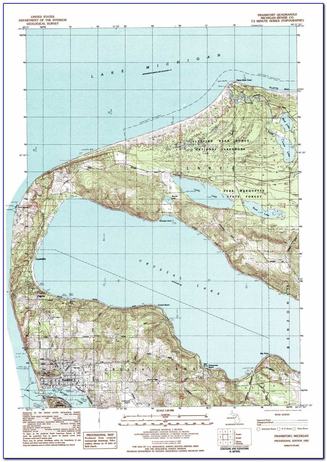 Grand Island Michigan Topographic Map