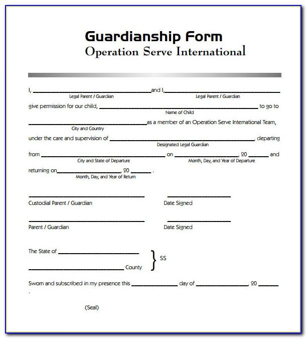 Guardianship Legal Forms