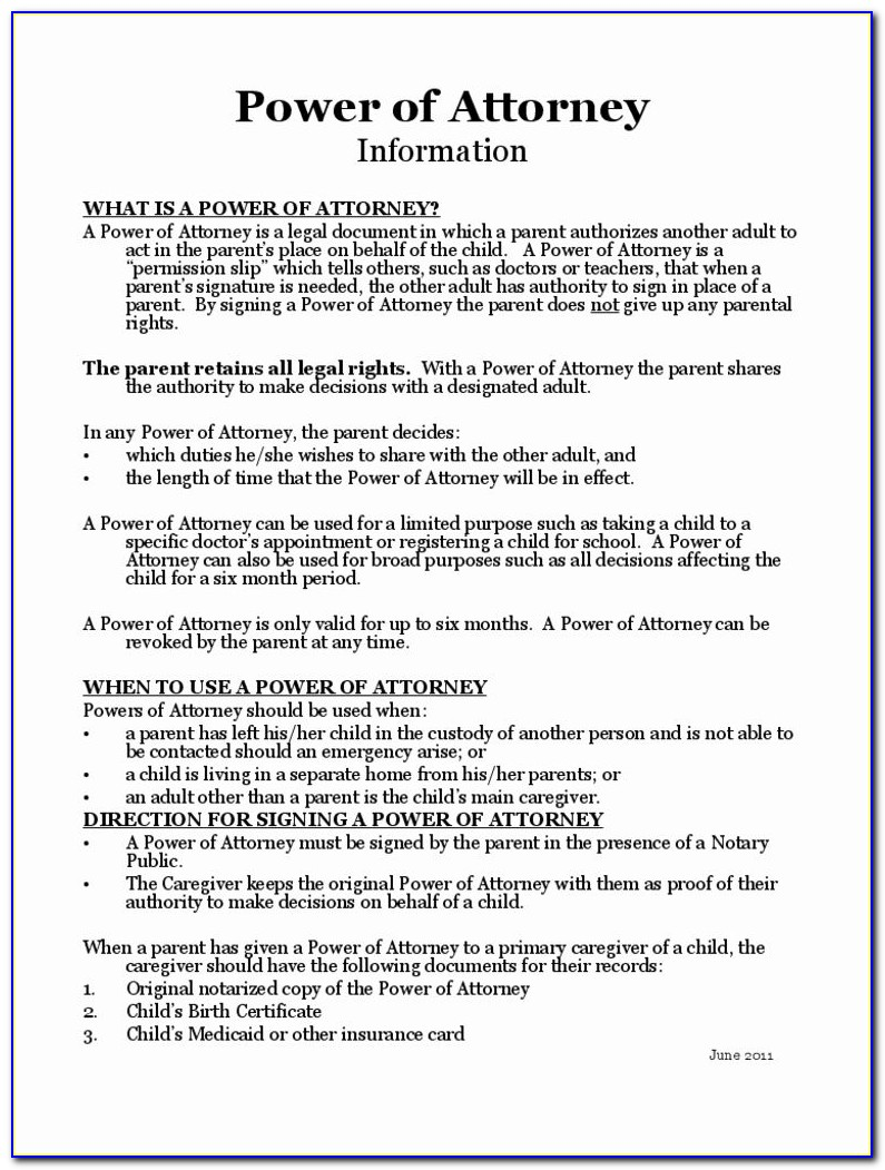 Health Power Of Attorney Forms