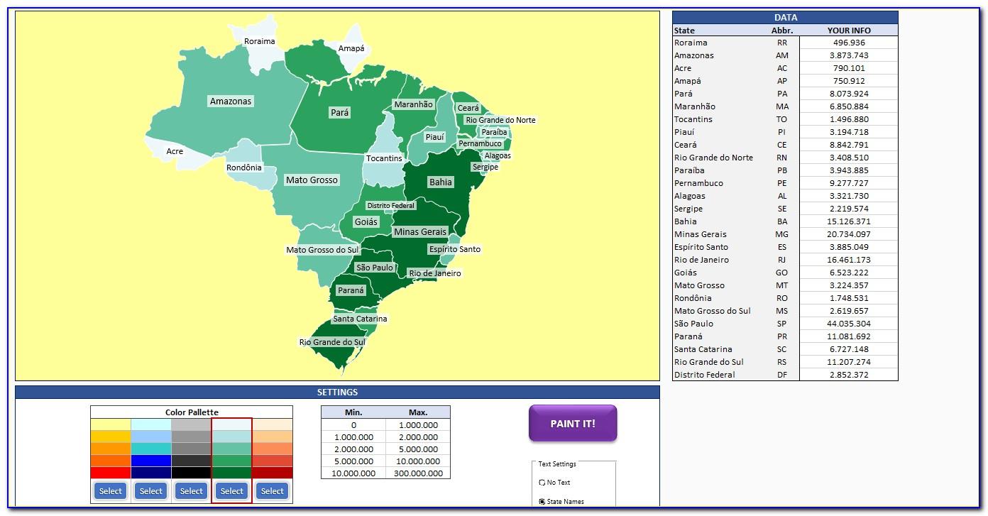 Heat Map Generator For Excel