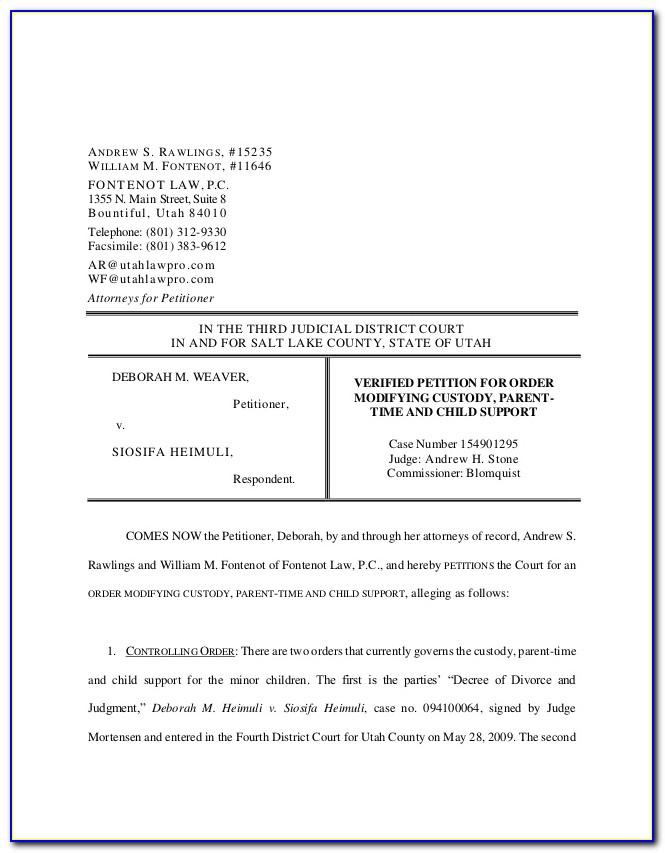 Henry County Divorce Paperwork