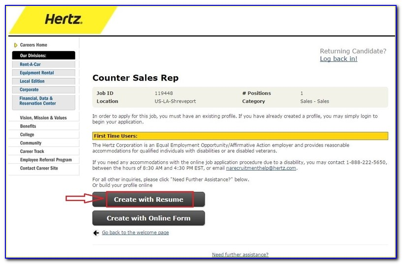 Hertz Job Application Online