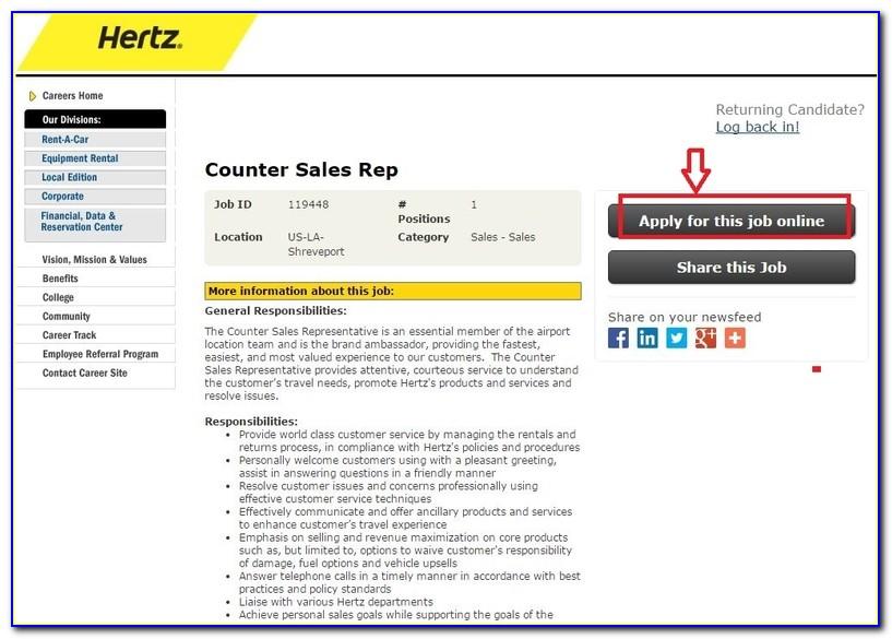 Hertz Jobs Apply Online