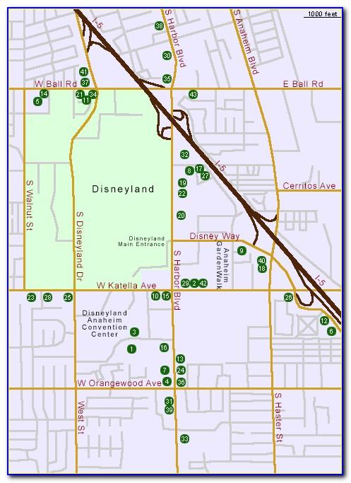 Hilton Anaheim Hotel Map