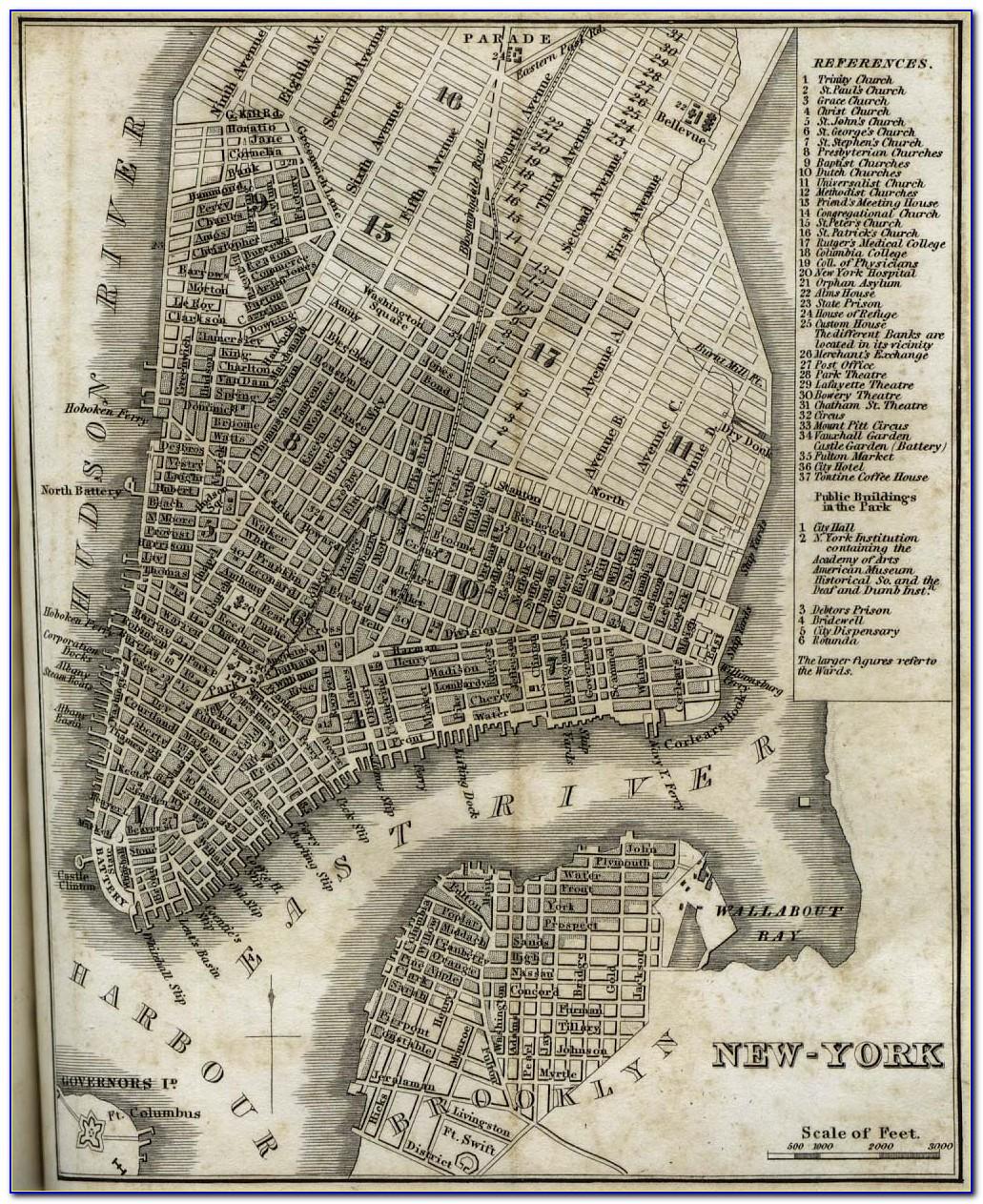 Historical Maps Of Manhattan
