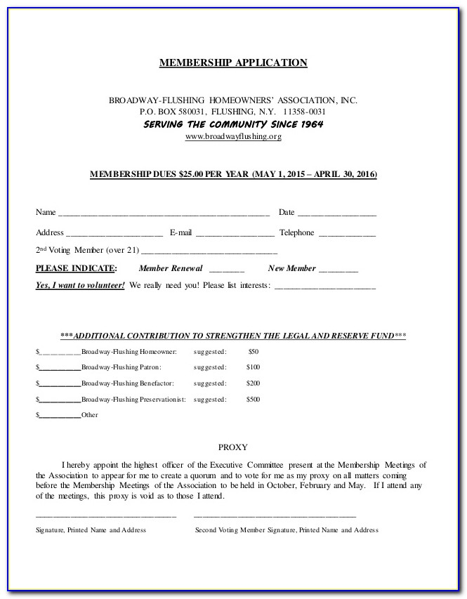 Hoa Proxy Form Texas