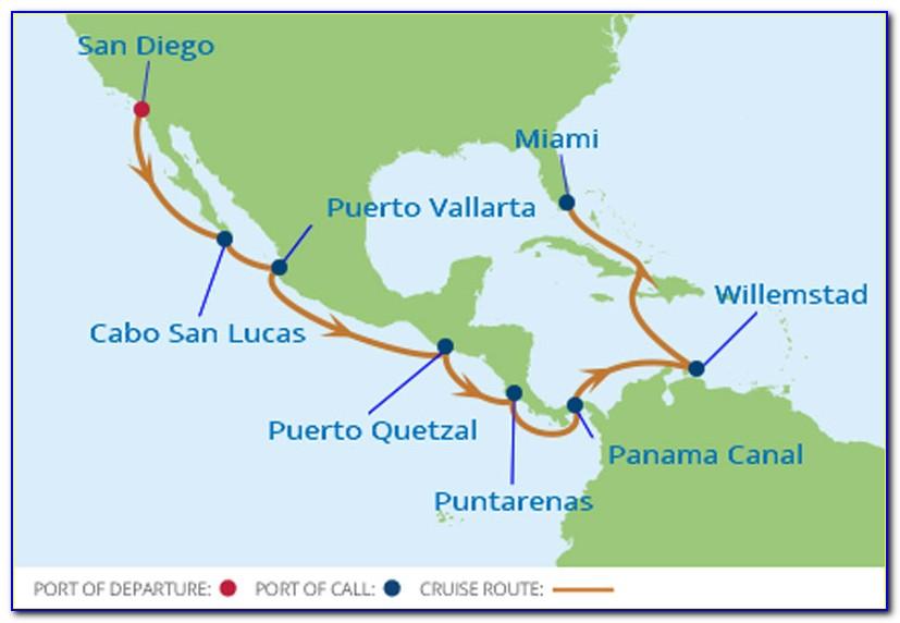 Holland America Panama Canal Cruise Map