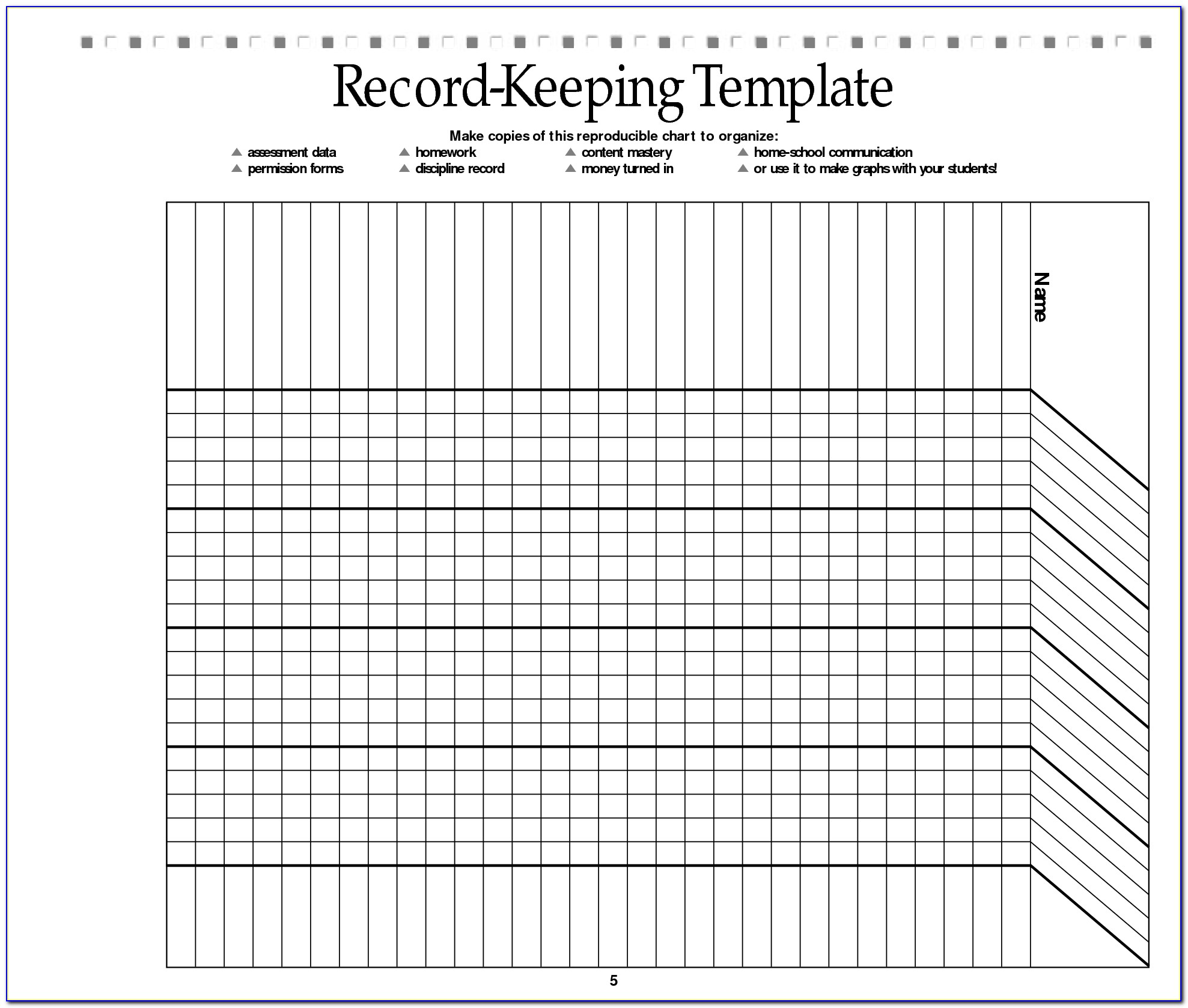 Homeschool Record Keeping Sheets