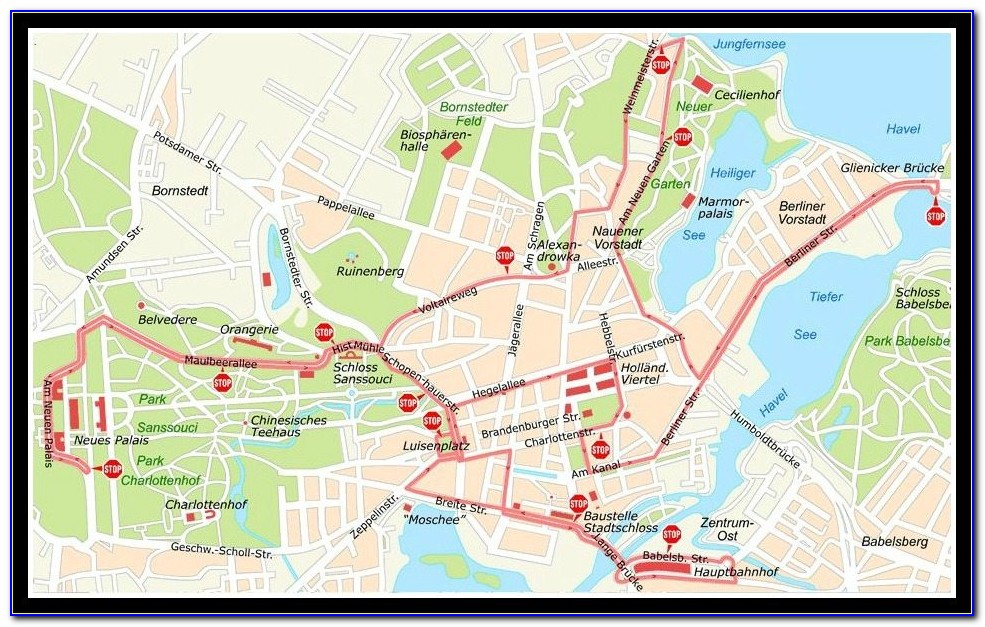 Hop On Hop Off Berlin Route Map