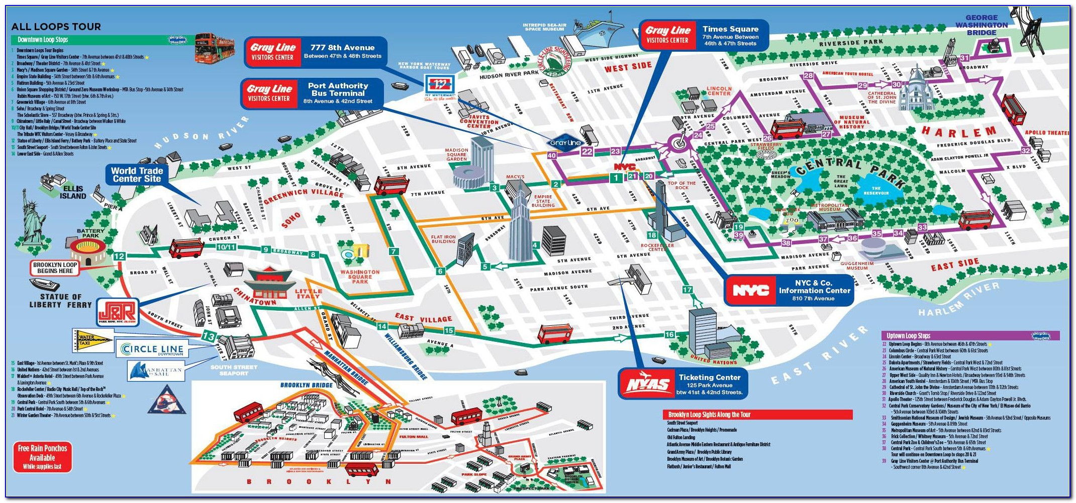 Hop On Hop Off Bus Nyc Route Map