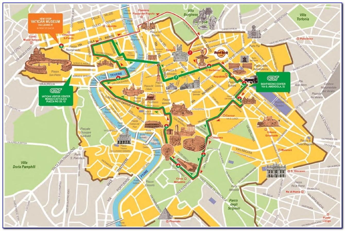Hop On Hop Off Bus Rome Map Route