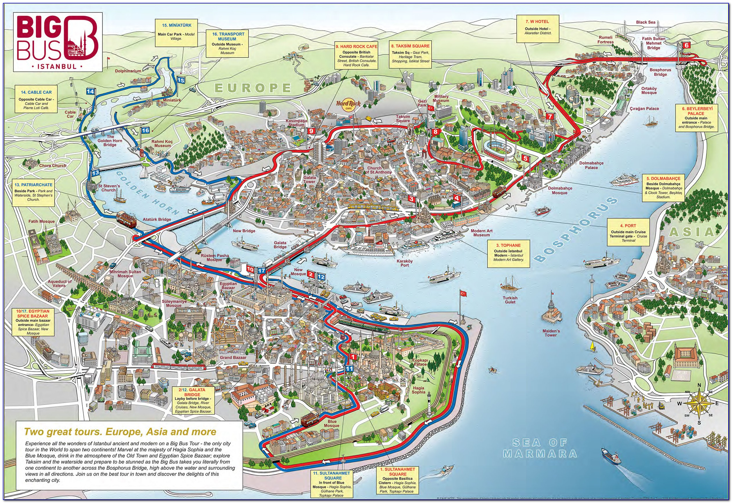 Hop On Hop Off Bus San Francisco Route Map