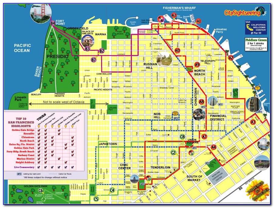 Hop On Hop Off San Francisco Route Map