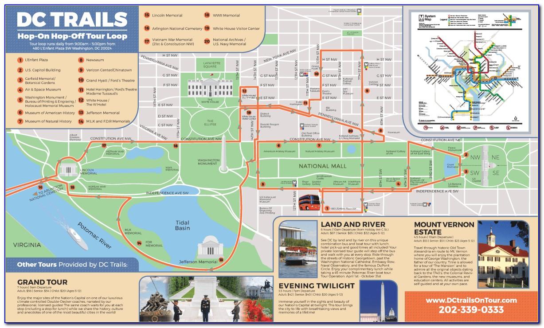 Hop On Hop Off Washington Dc Route Map