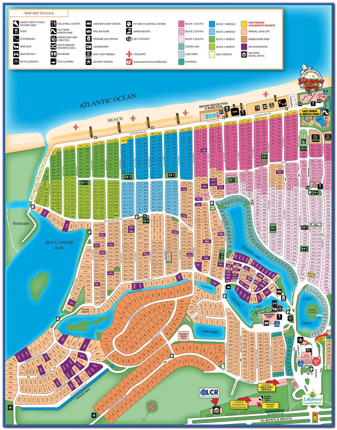 Hotel Blue Myrtle Beach Map