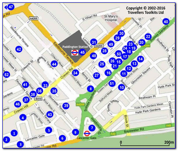 Hotels Near Paddington Station London Map