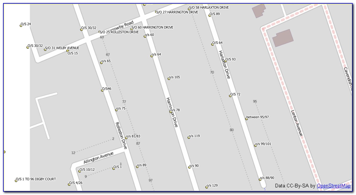 House Address Numbers Map