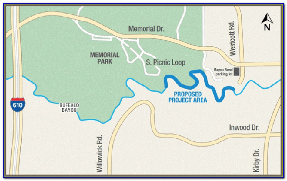 Houston Buffalo Bayou Flood Map