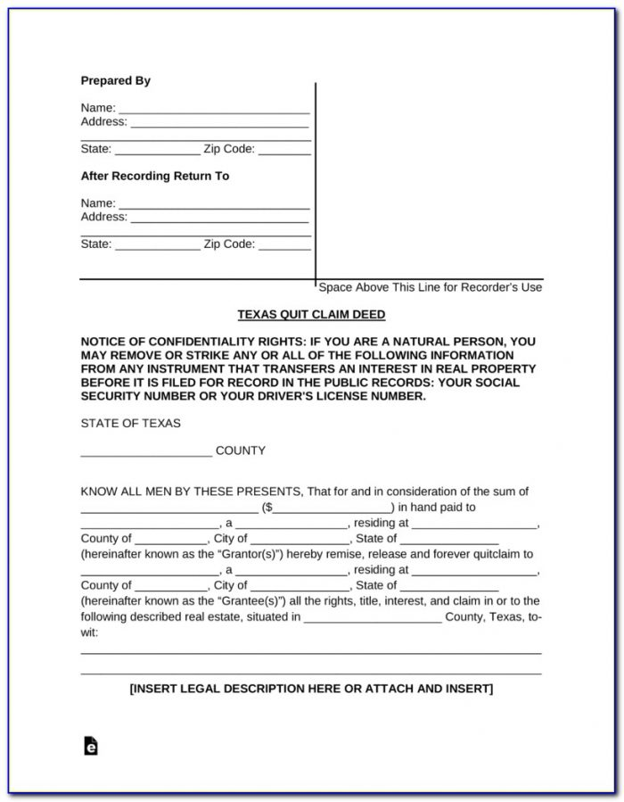 How To Fill Out A Quit Claim Deed Form California