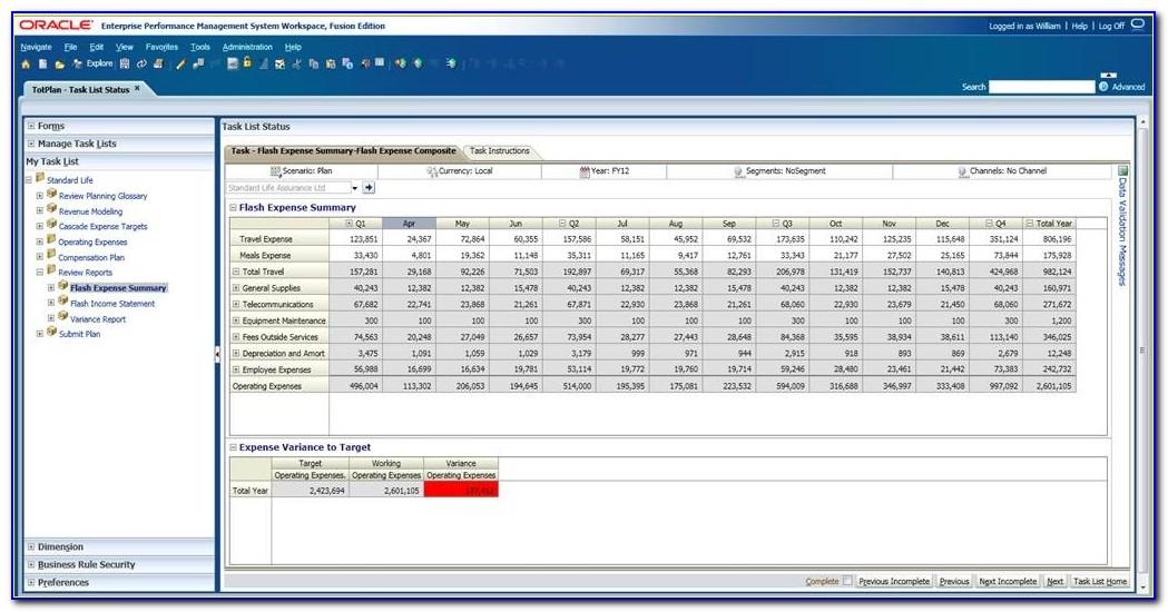 Hyperion Planning Web Form Formula
