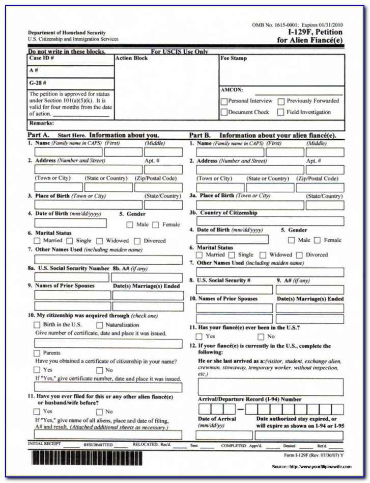 Immigration Form 601a