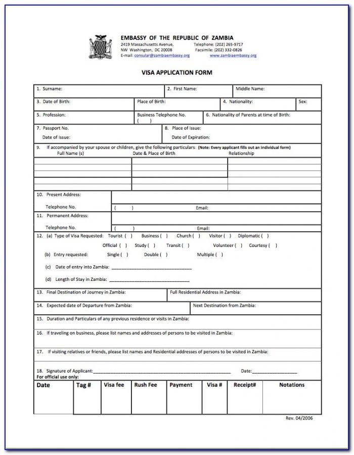 Indian Visa Form Us Citizen