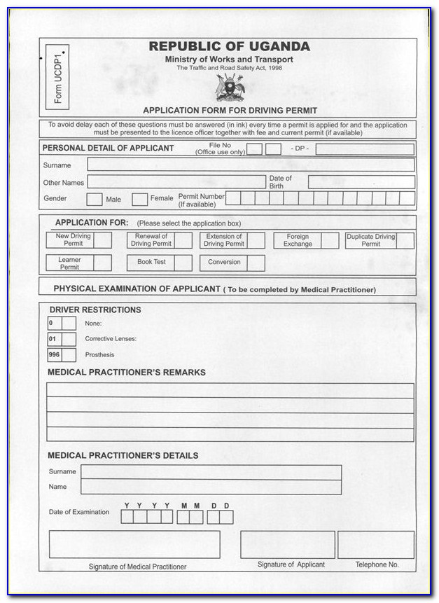 International Driving License Application Form Dubai