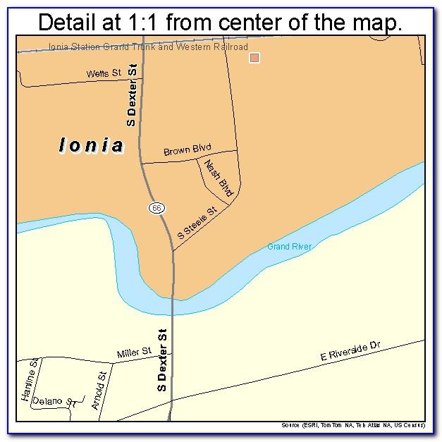 Ionia County Mi Map