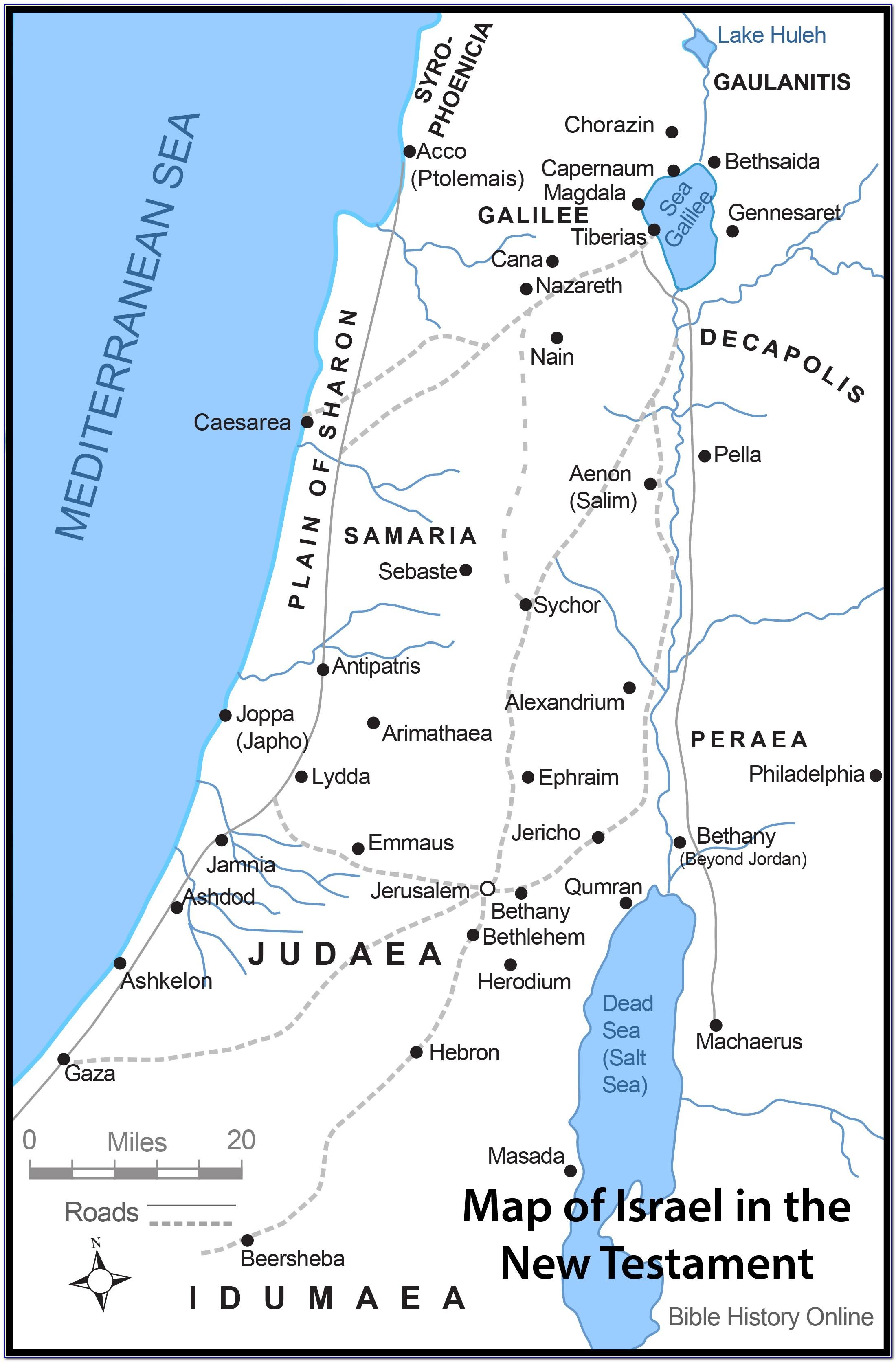 Israel Map Biblical Times