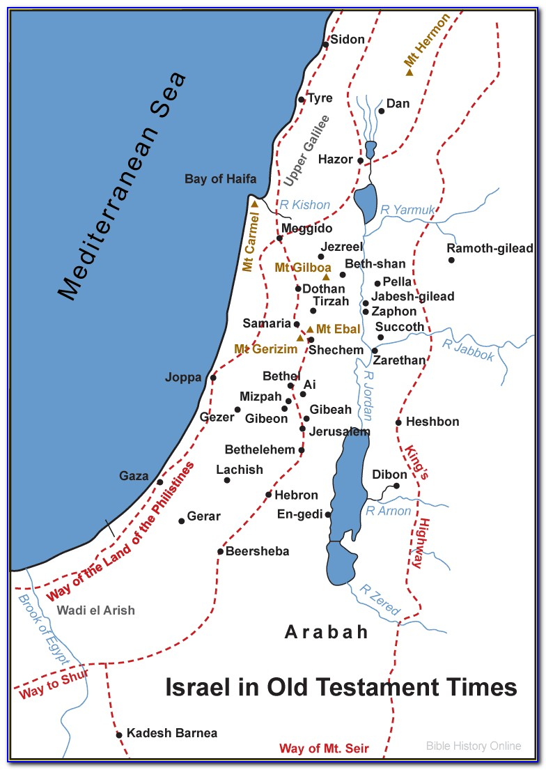 Israel Map During Bible Times