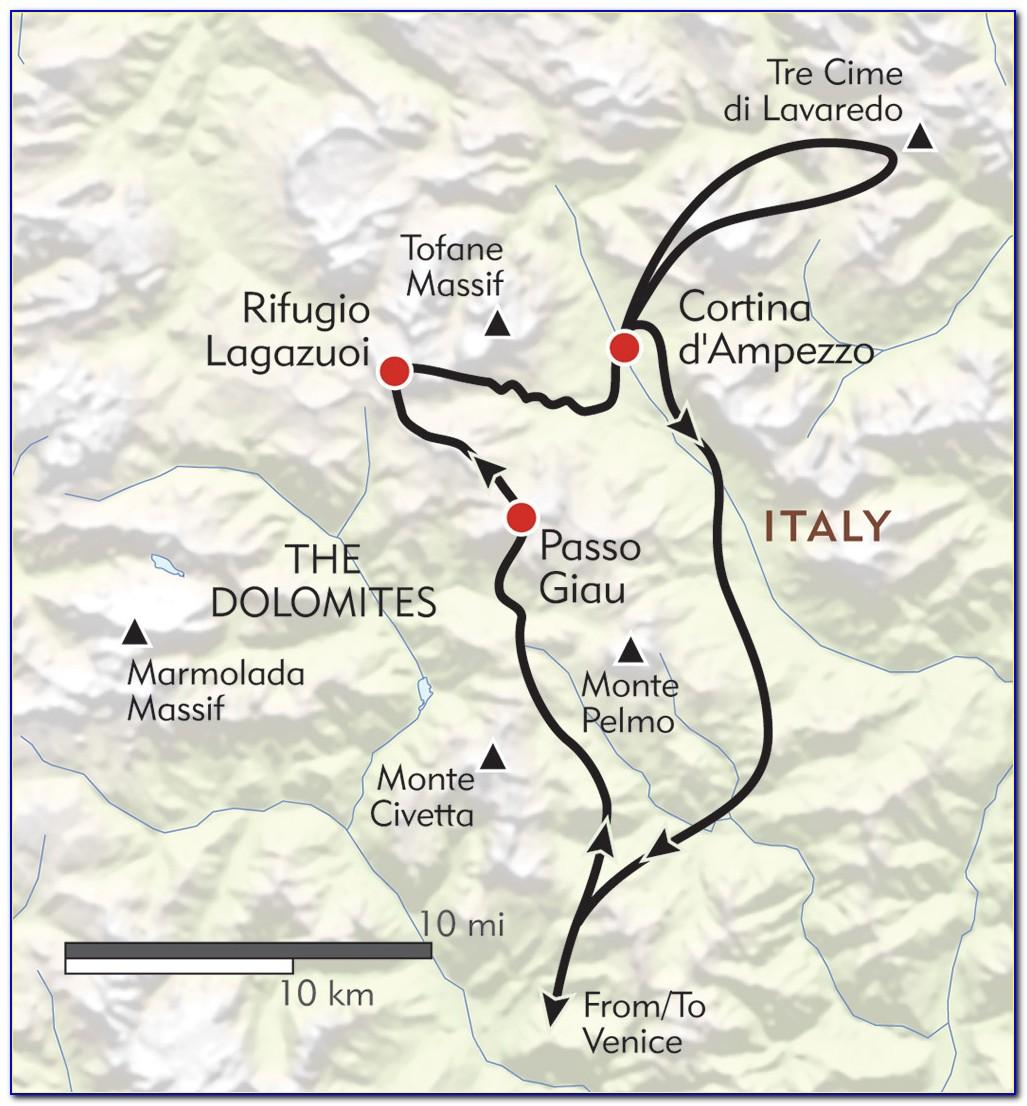 Italian Dolomites Hiking Map