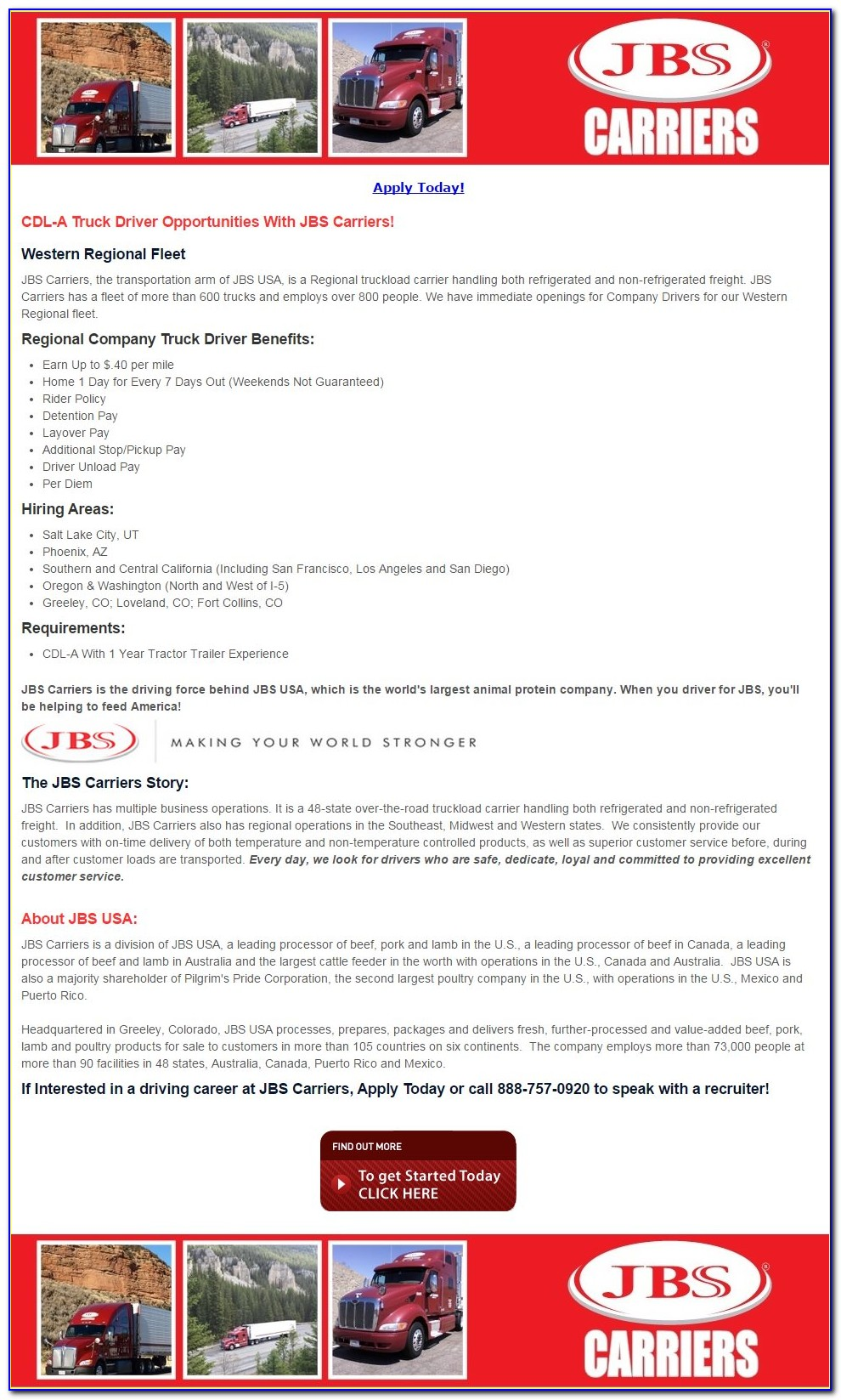 Jbs Job Application Online