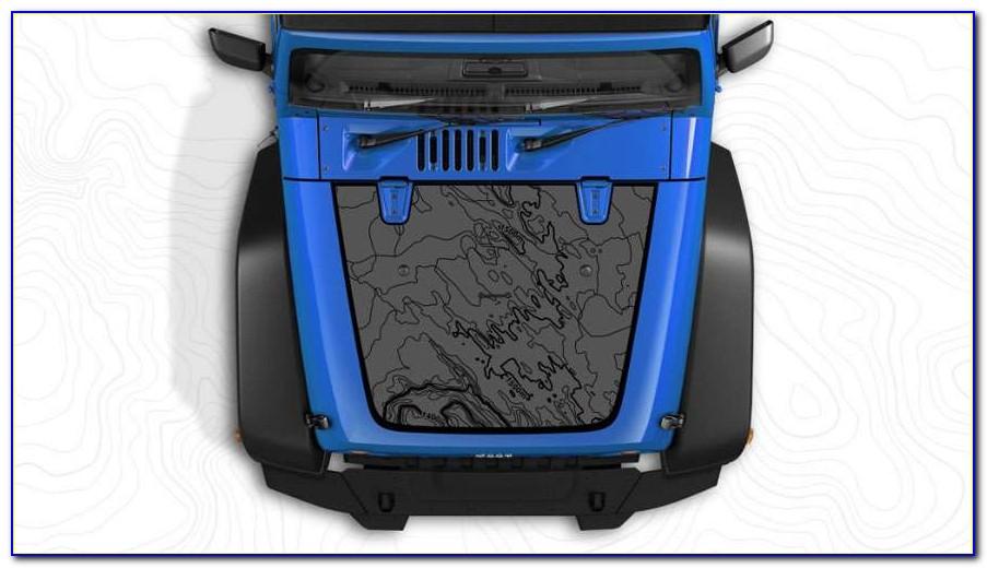 Jeep Wrangler Hood Map Decal