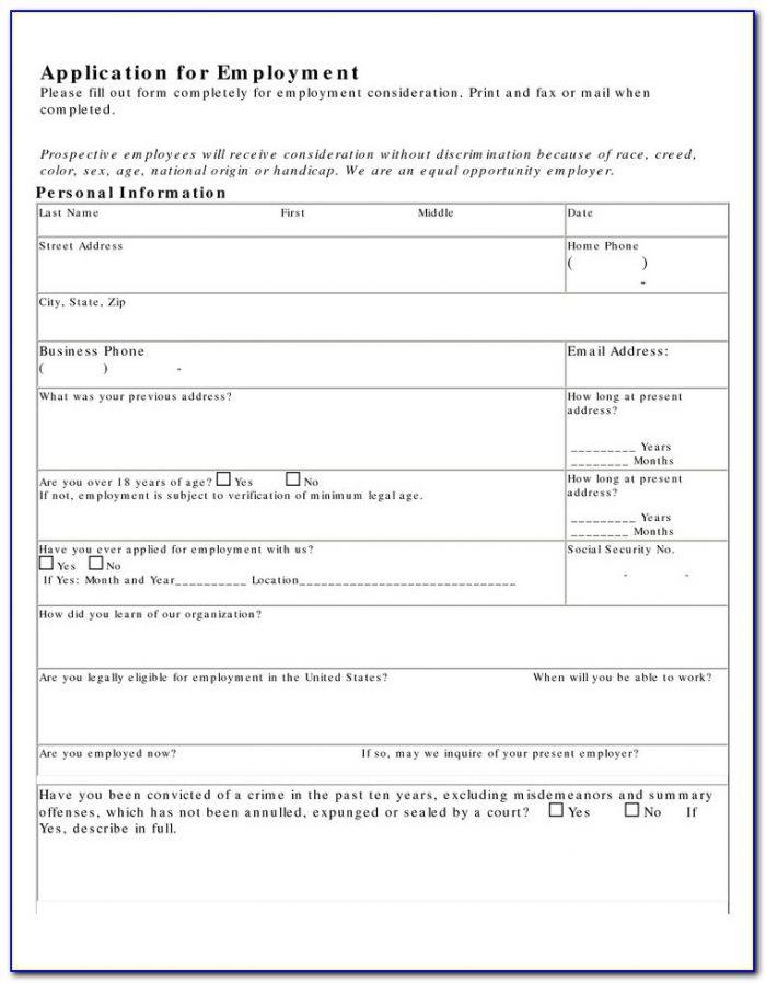 Job Application For Kfc Pdf