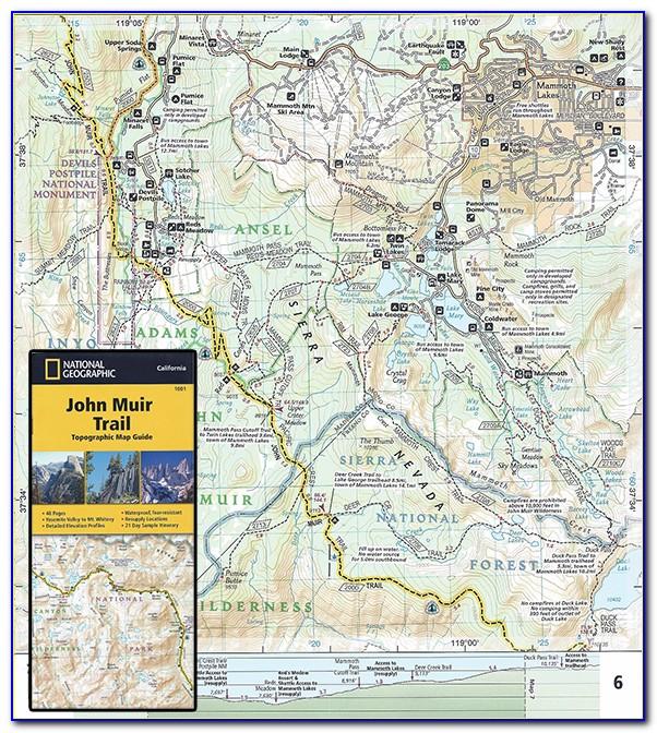John Muir Trail Map Wisconsin